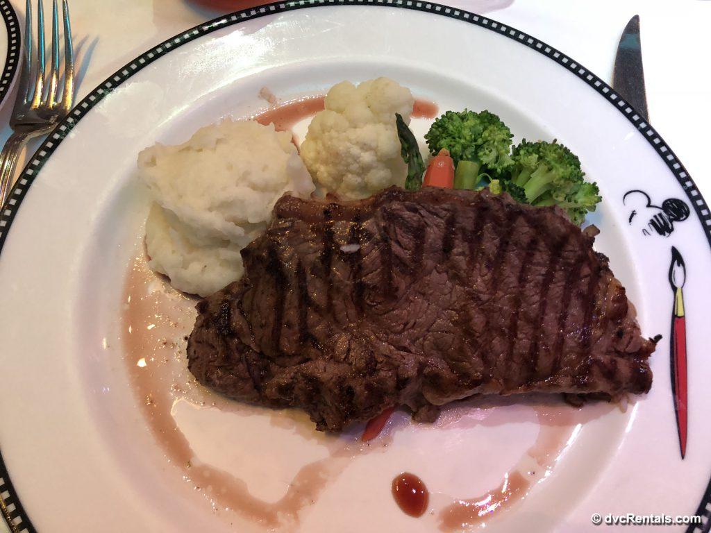 Steak dish at Animator's Palate