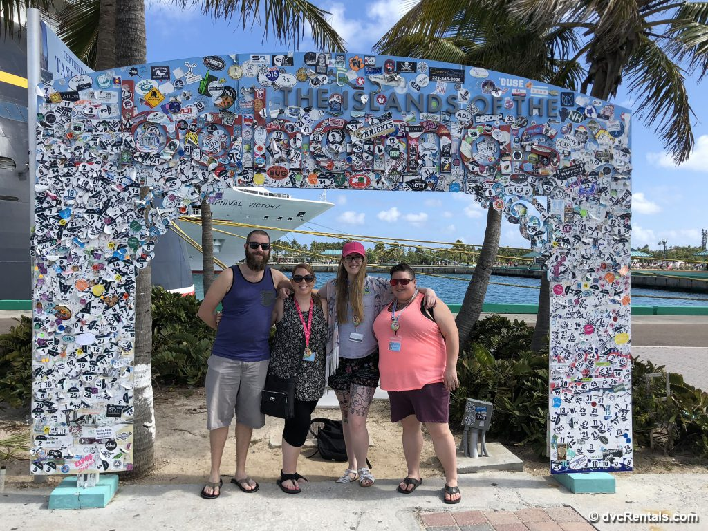 Kevin, Stacy, Chelsey & Lindsay at Nassau, Bahamas