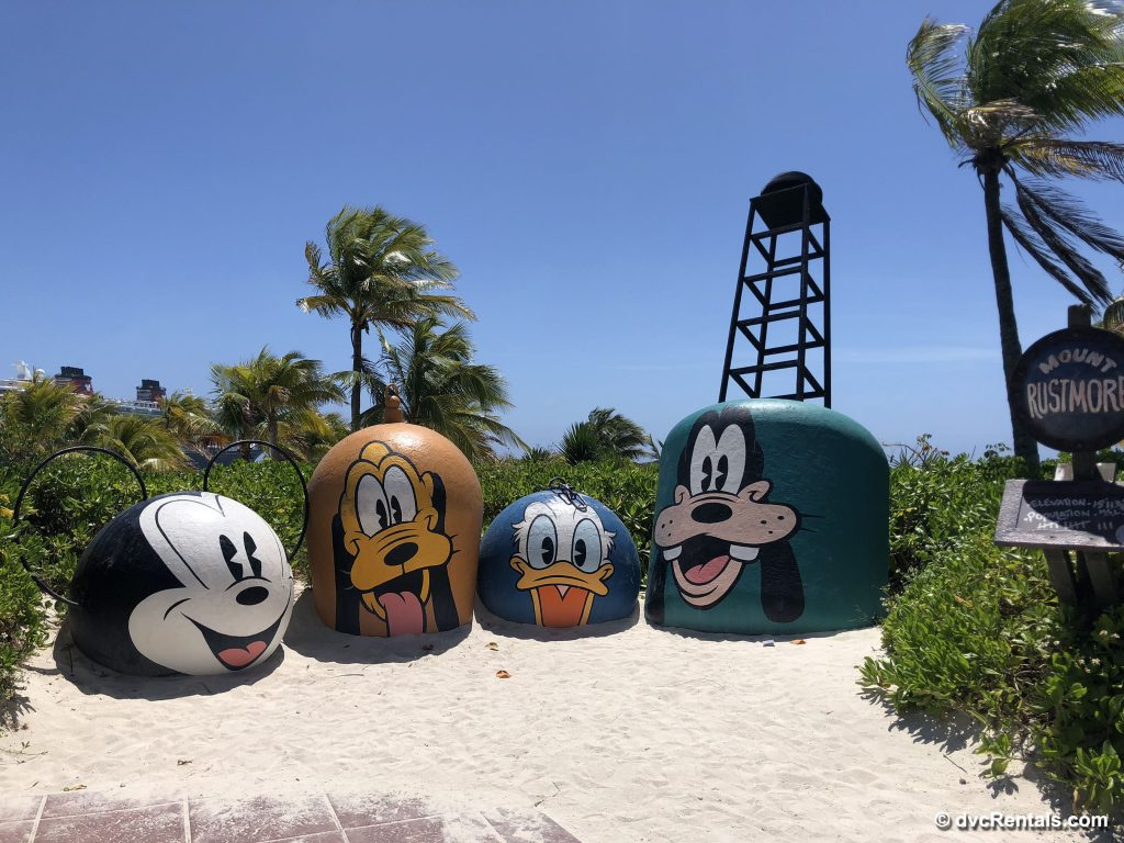 Character buoys at Castaway Cay
