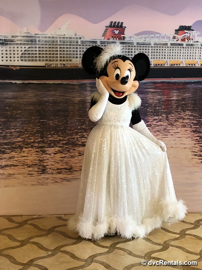 Minnie Mouse meet and greet on Disney Dream