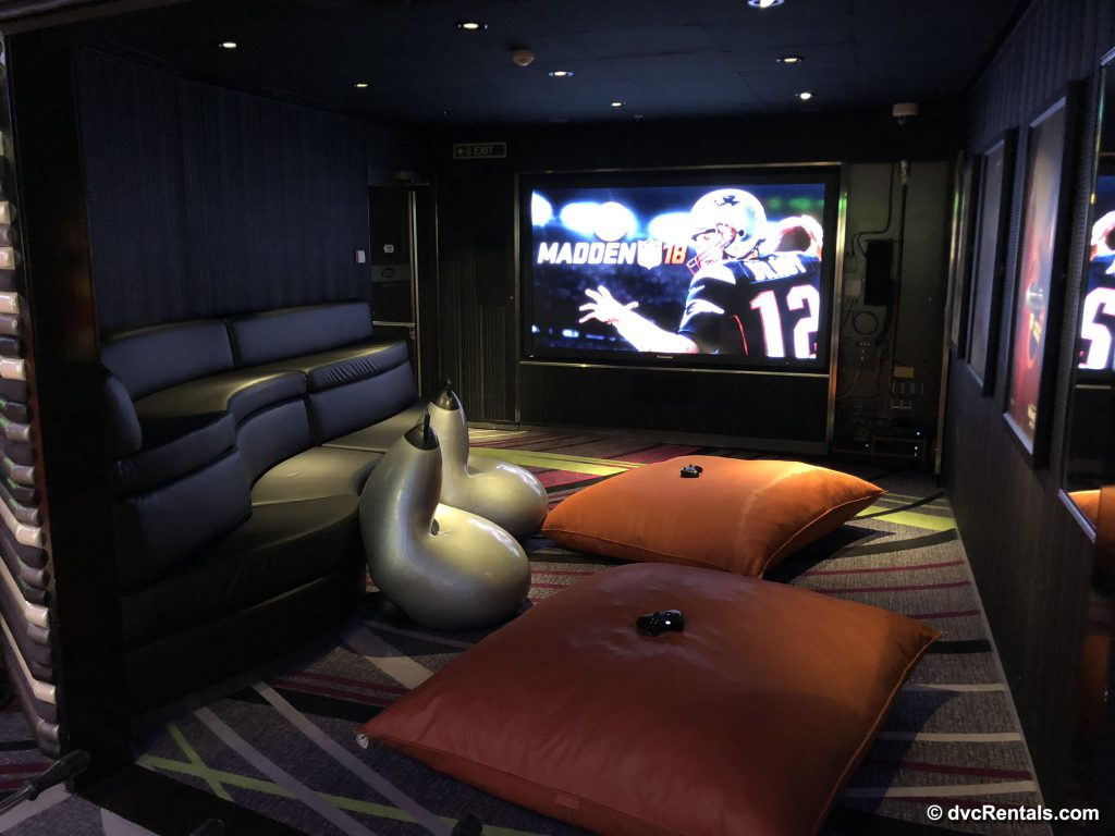 Lounge and gaming area in Vibe