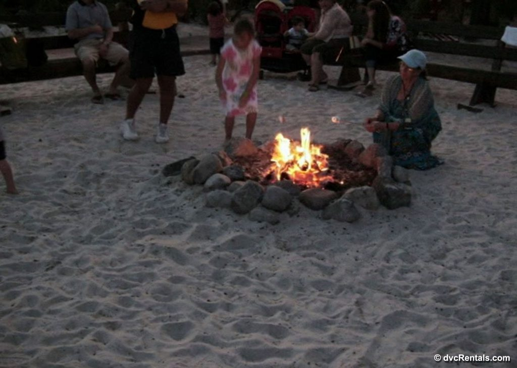 Campfire on the Beach at Disney's Beach Club Villas
