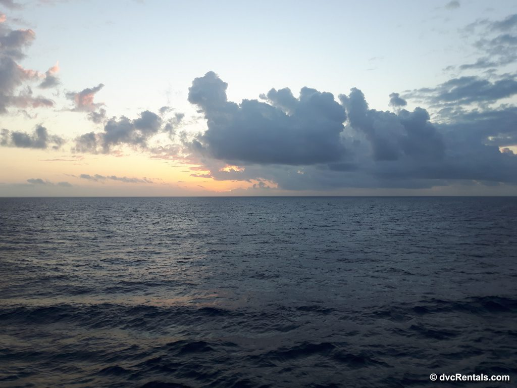Sunrise as seen when sailing on the Disney Dream
