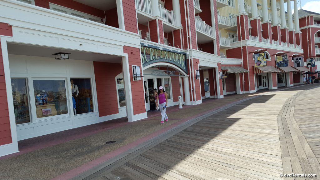Shopping area at Disney's Boardwalk Villas