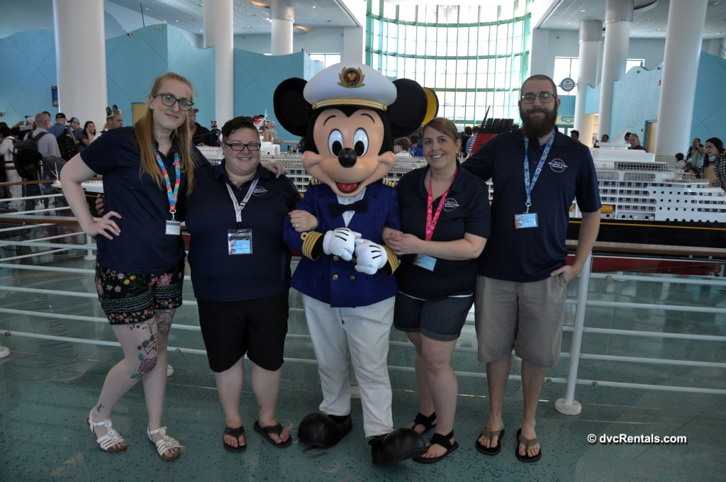 DVCR Team Members with Captain Mickey