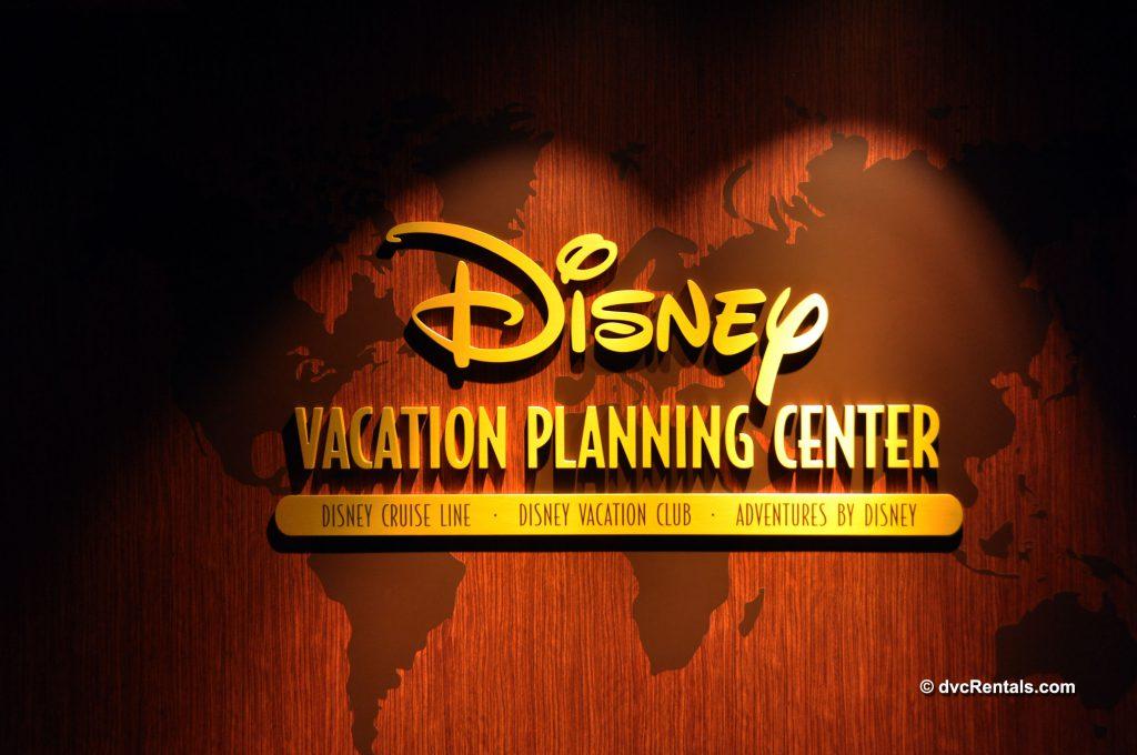 Disney Vacation Planning Center Sign