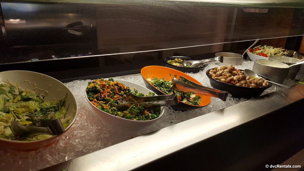 Salad station at Trail's End Buffet
