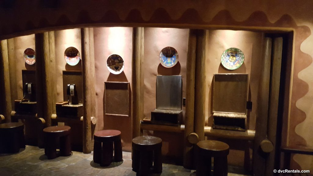 Phone booths at Disney's Animal Kingdom