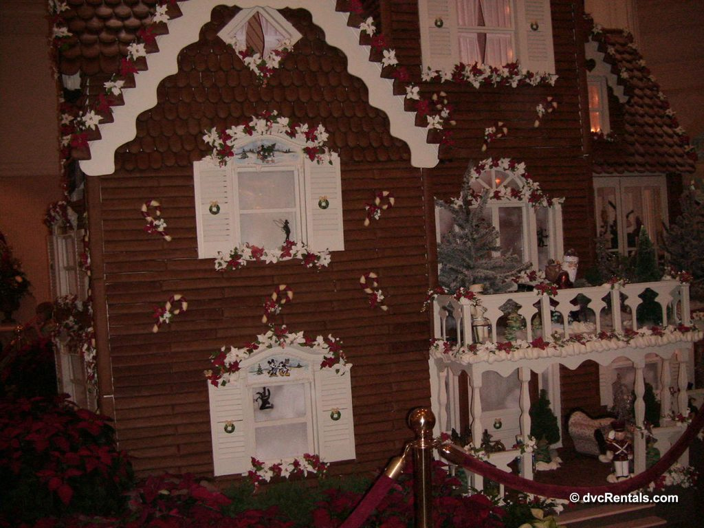 Gingerbread house in the lobby of Disney's Grand Floridian