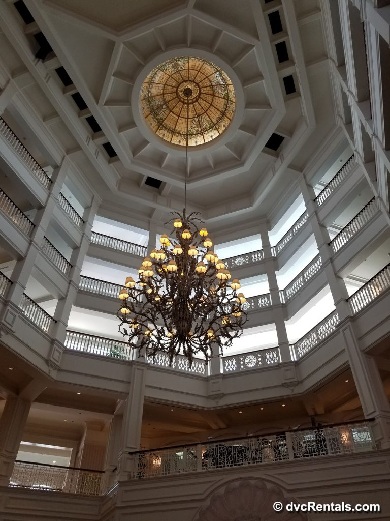 Chandelier inside the lobby of Disney's Grand Floridian