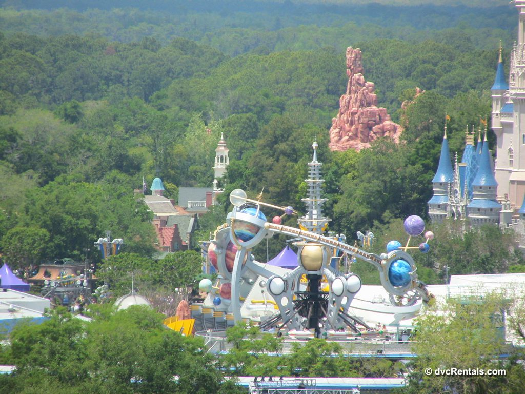 View of Disney's Magic Kingdom from the Top of the World Lounge