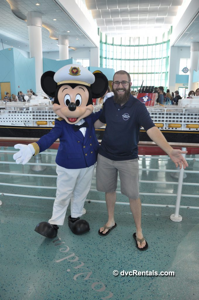 Team Member Kevin with Captain Mickey