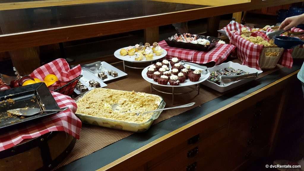 Dessert station at Trail's End Buffet