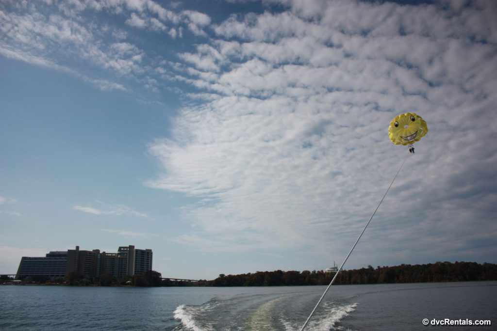 Parasailing on Disney's Bay Lake
