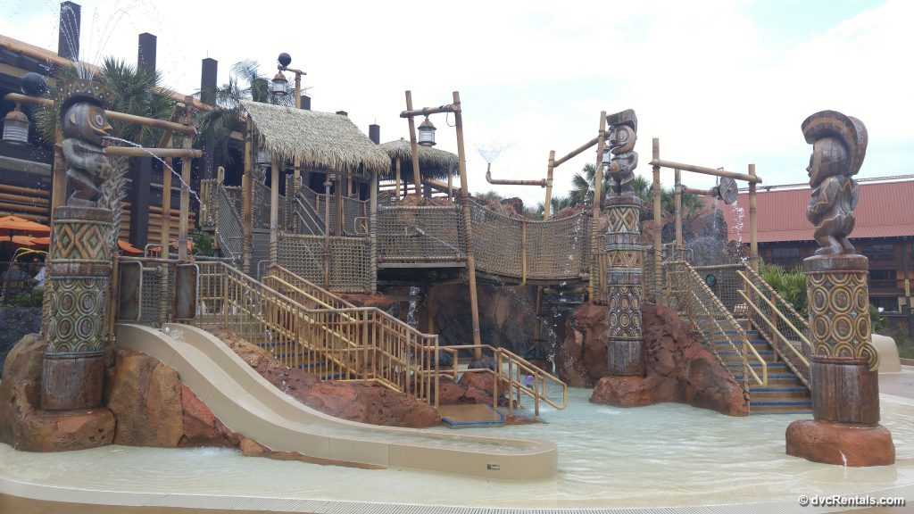 Waterplay area at Disney's Polynesian Villas & Bungalows
