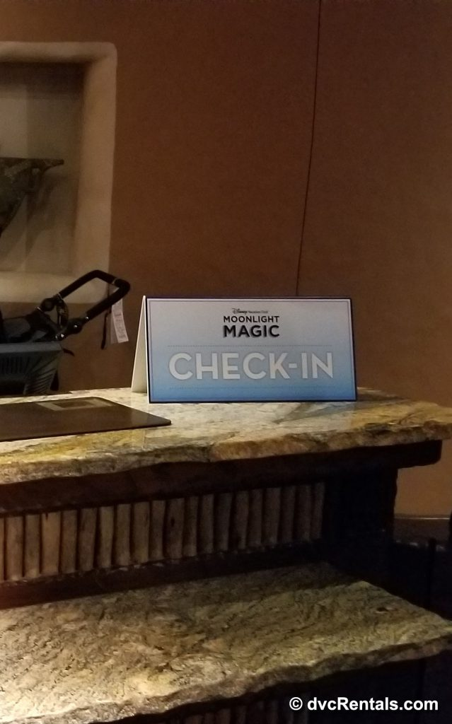 Event Check in desk at a DVC Resort