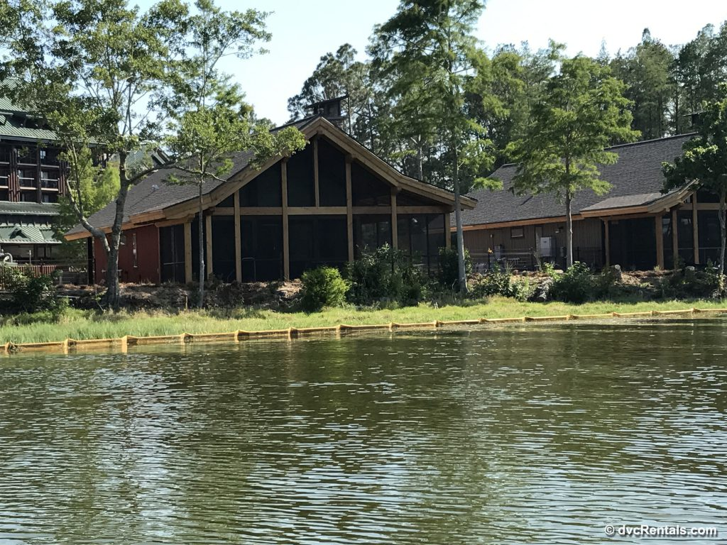 Exterior view of the Copper Creek Cabins