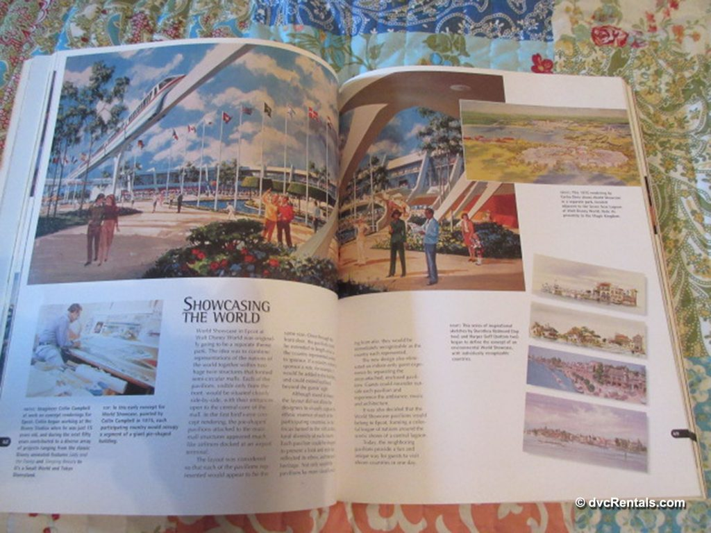 Inside pages of Walt Disney Imagineering: A Behind the Dreams Look at Making the Magic Real