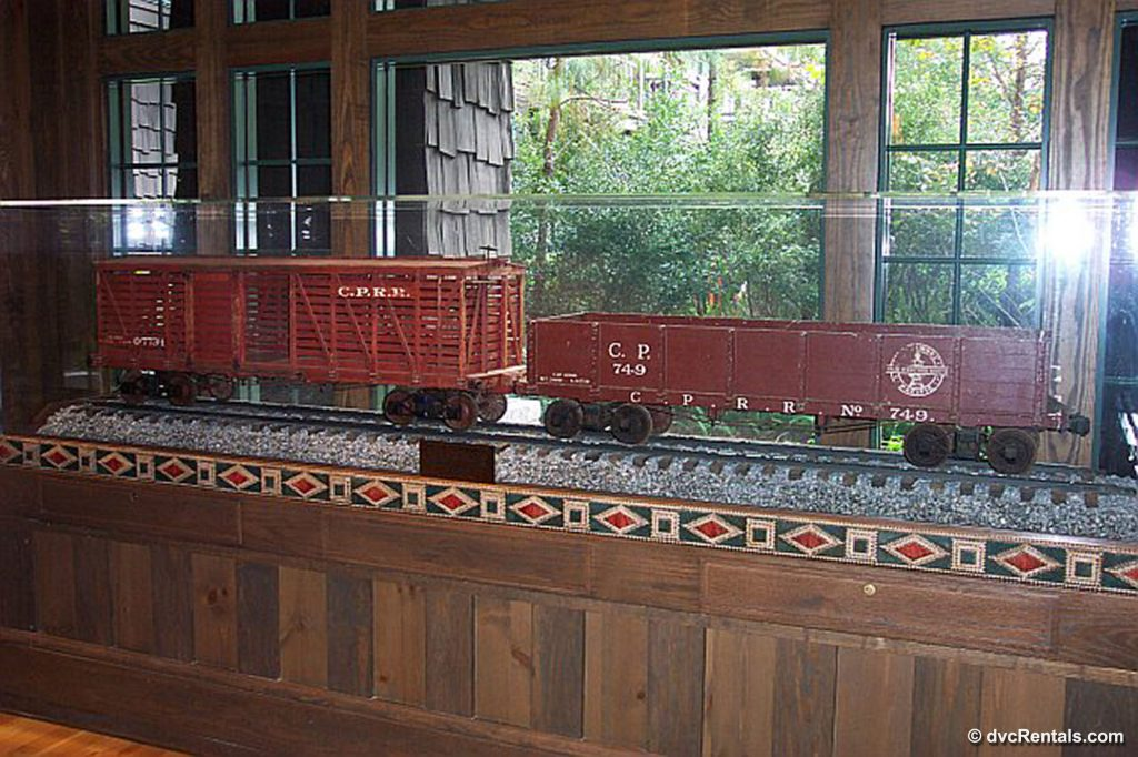 Trains located within the Carolwood Pacific room at Disney's Wilderness Lodge