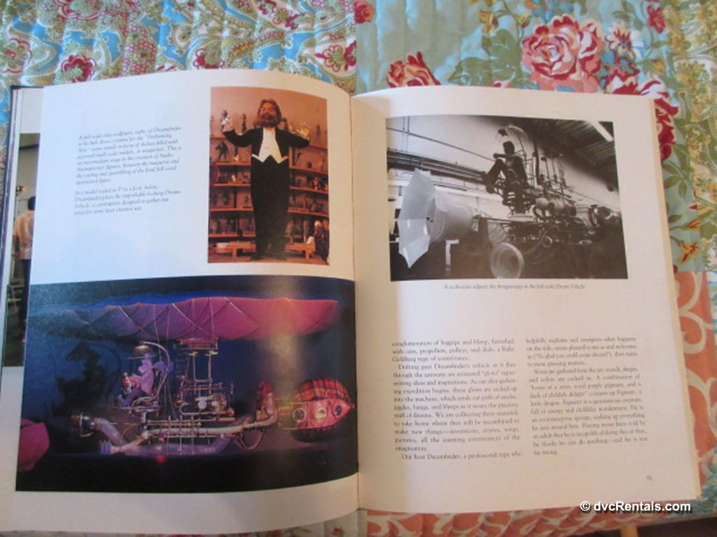 Inside pages of Walt Disney's Epcot: Creating the New World of Tomorrow