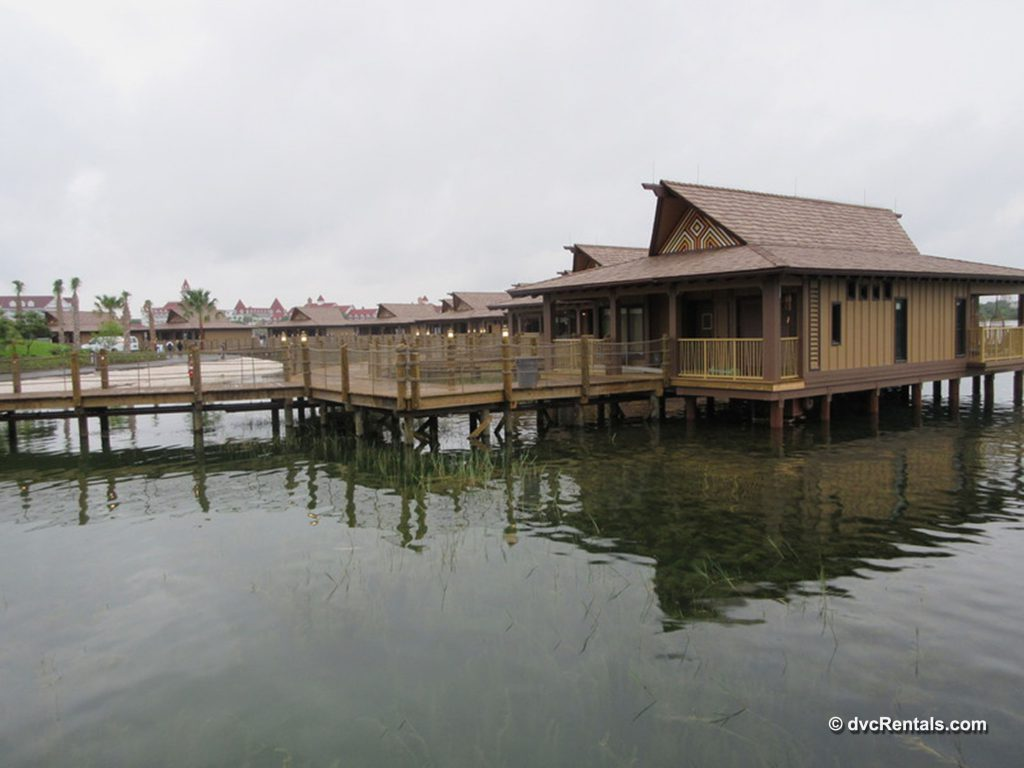 Exterior view of the Polynesian Bungalows