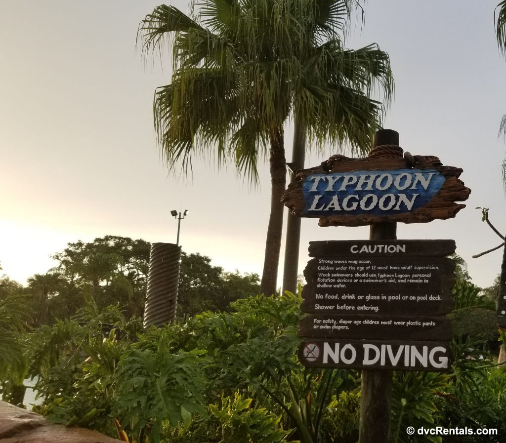 Typhoon Lagoon sign