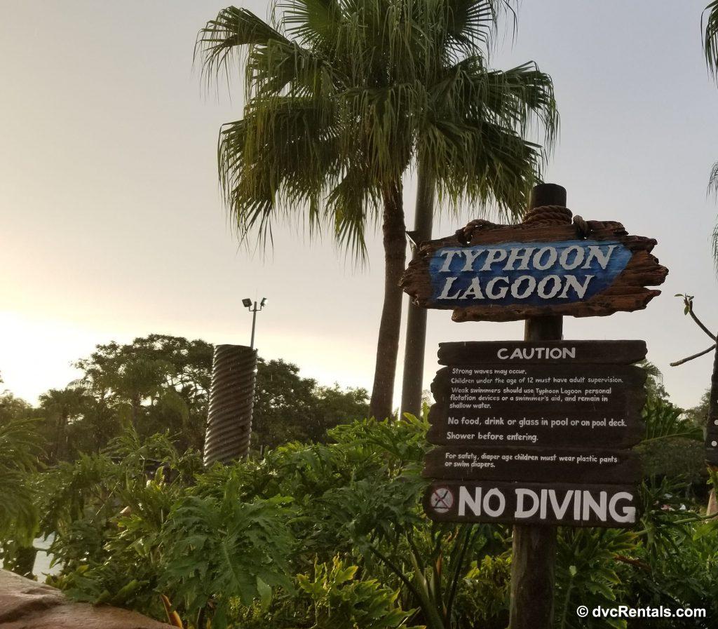 Typhoon Lagoon sign