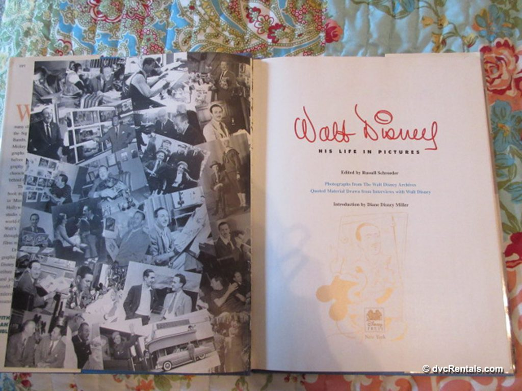 Inside pages of Walt Disney: His Life in Pictures