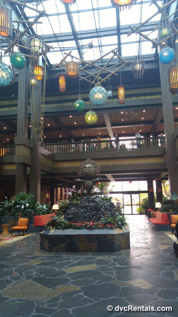 Lobby at Disney's Polynesian Villas & Bungalow
