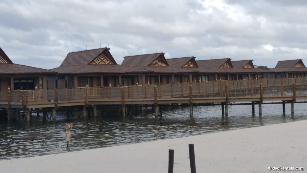 Exterior picture of the Polynesian Bungalows
