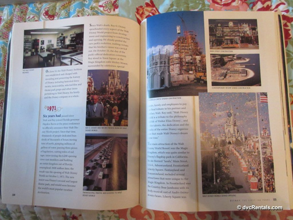Inside pages of Disney: The First 100 Years