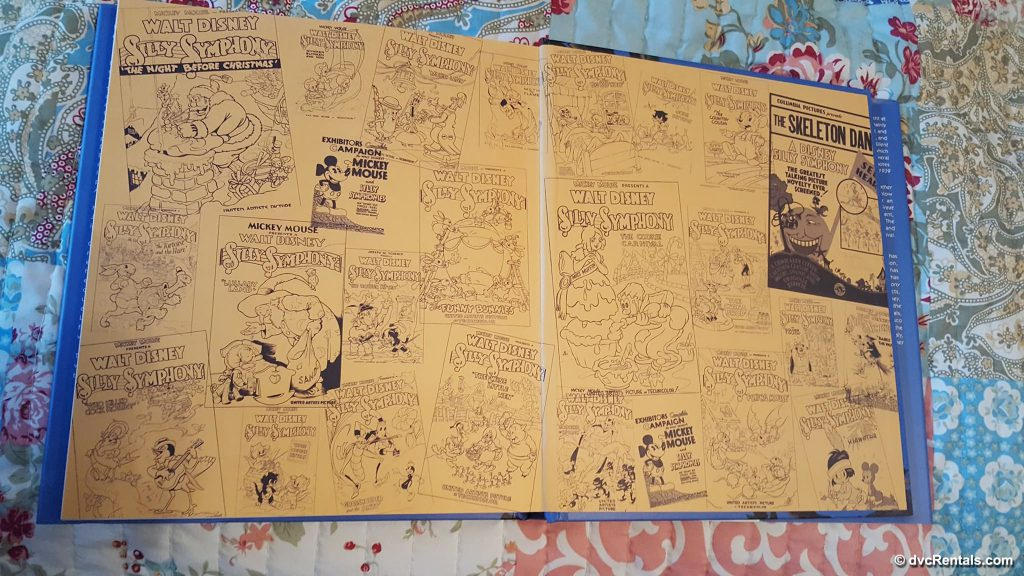 Inside pages of Walt Disney's Silly Symphonies: A Companion Guide to the Classic Cartoon Series