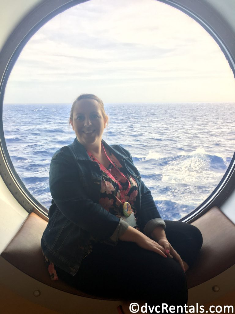 Team member Stacy aboard the Disney Dream