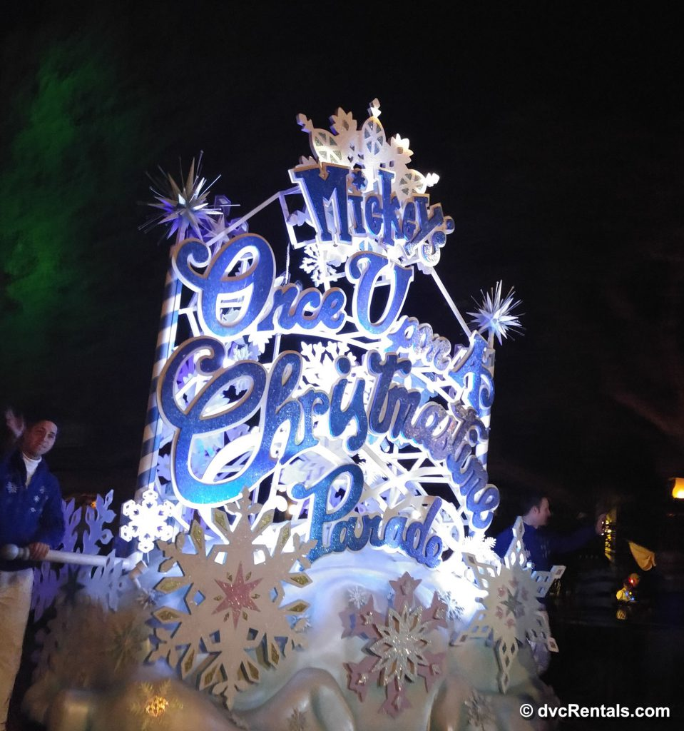 Once Upon a Christmas Float from the Mickey's Very Merry Christmas Party Parade