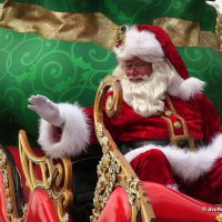 Santa Claus at the end of Magic Kingdom's Christmas Parade