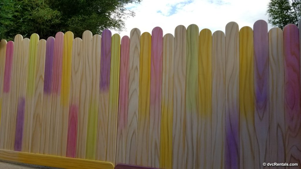 Popsicle Stick Wall