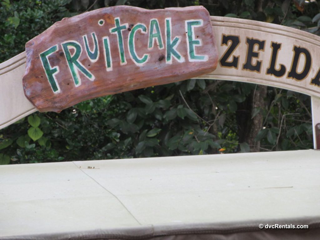 Jungle Cruise sign decorated for Christmas