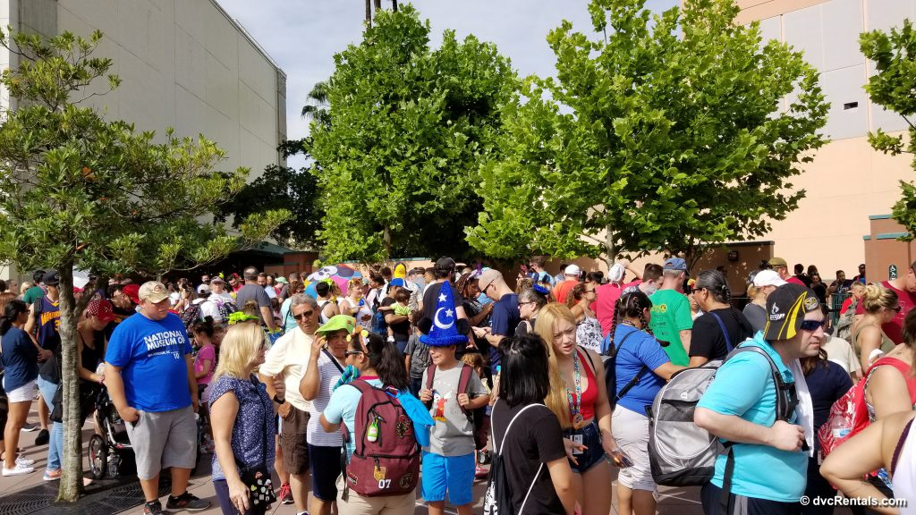Queue of guests waiting to enter Toy Story Land