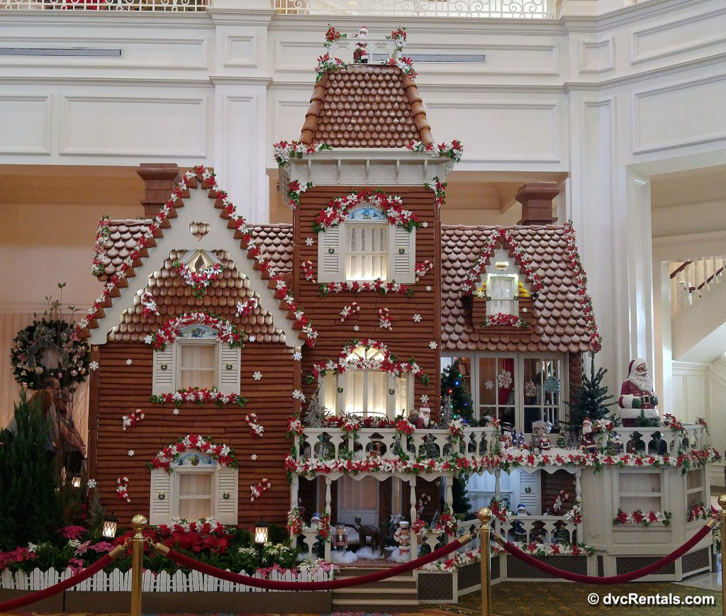 Gingerbread house in the lobby of the Disney's Grand Floridian Resort & Spa