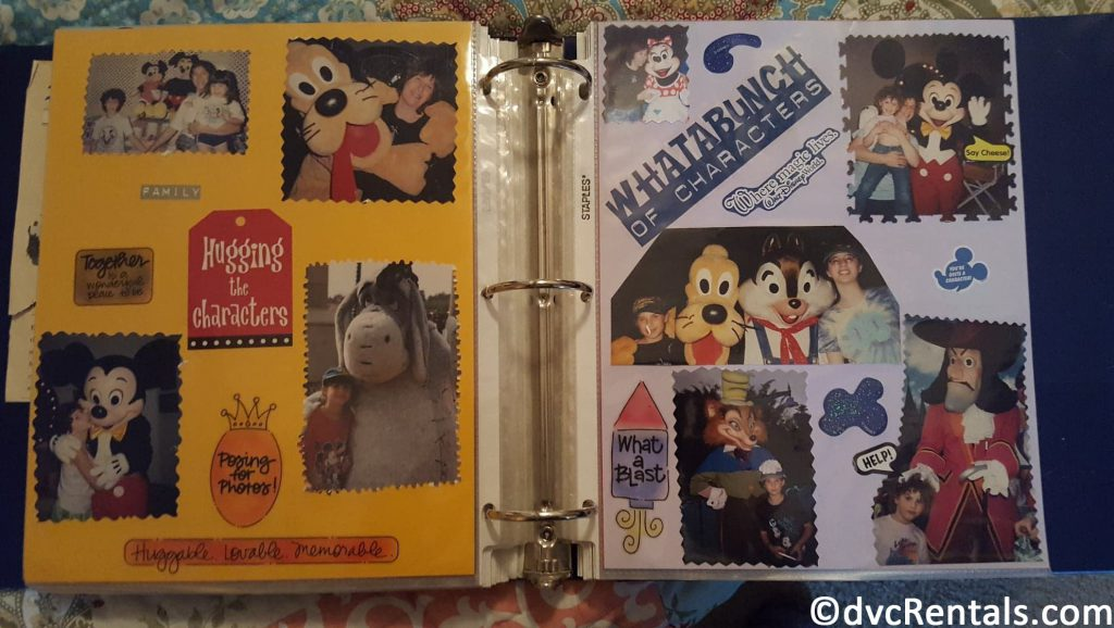 Scrapbook of Disney Vacation