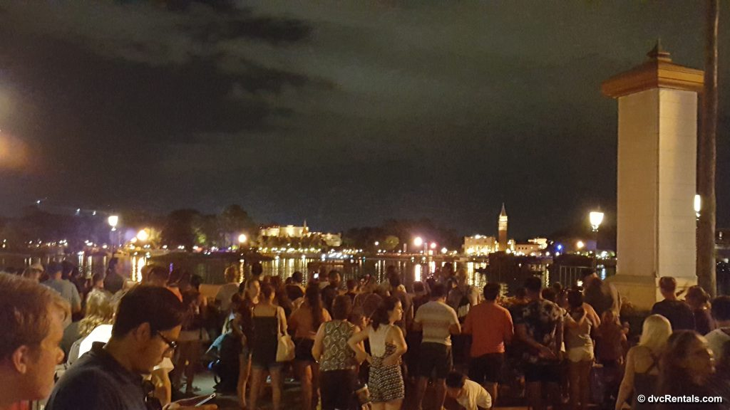 Crowds of people watching IllumiNations