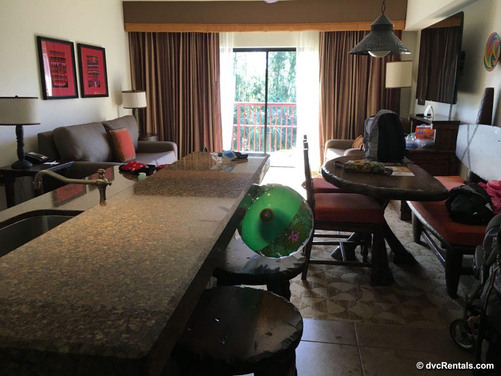 Living room of a 2 bedrom villa