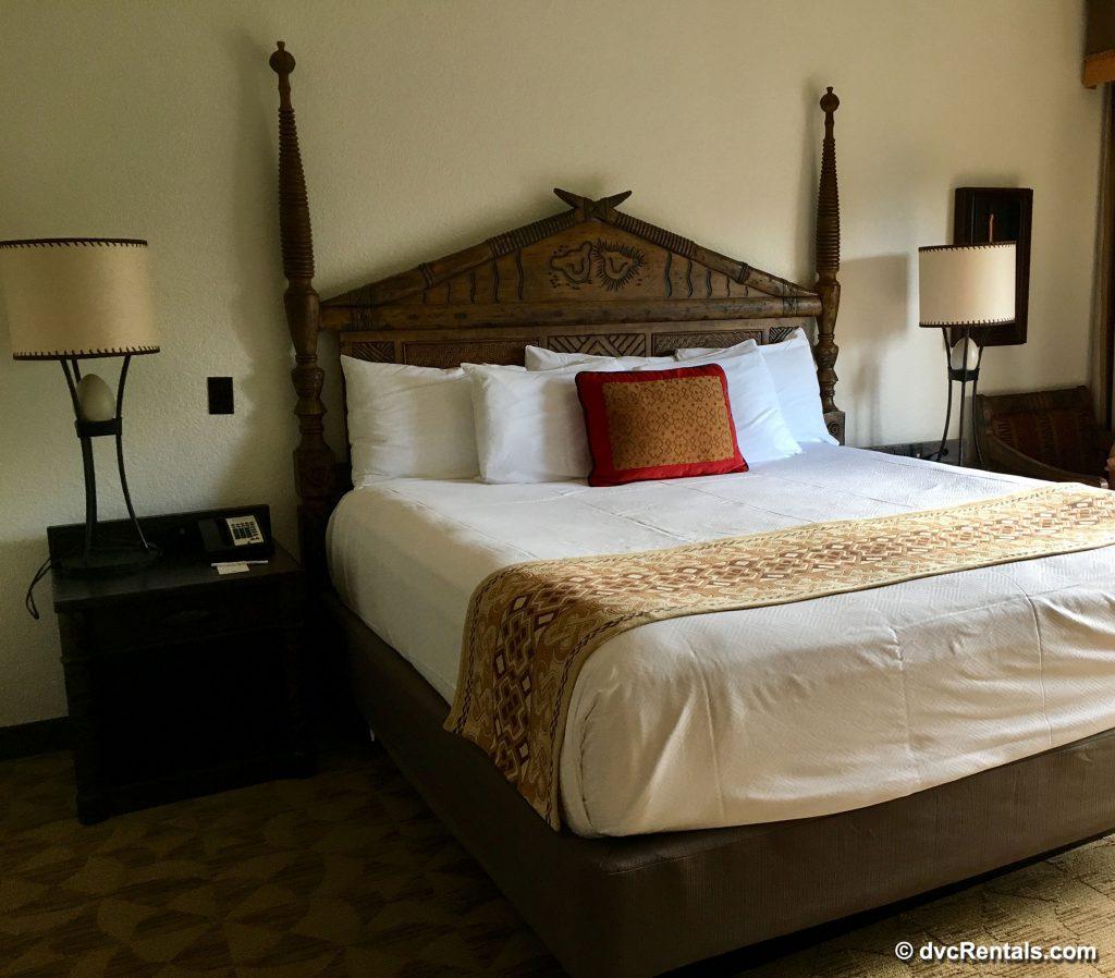 Master bedroom of a 2 bedroom villa