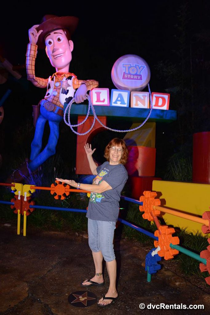 Entrance to Toy Story Land with Woody Figurine
