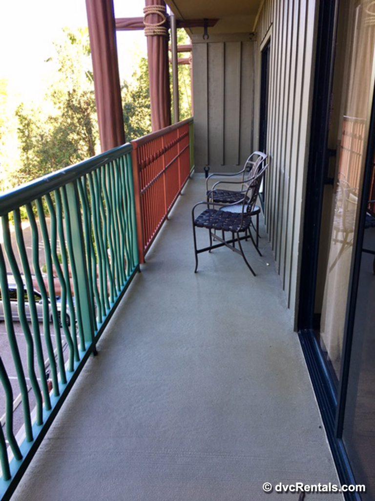 Balcony of the 2 bedroom villa