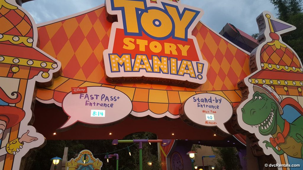 Entrance to Toy Story Mania