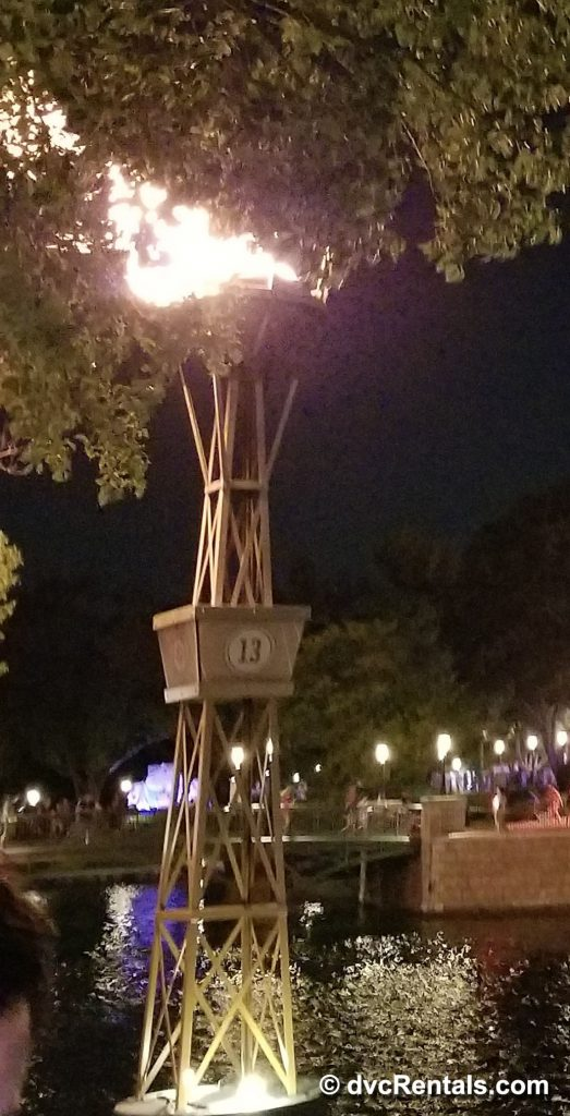 One of the torches around the World Showcase