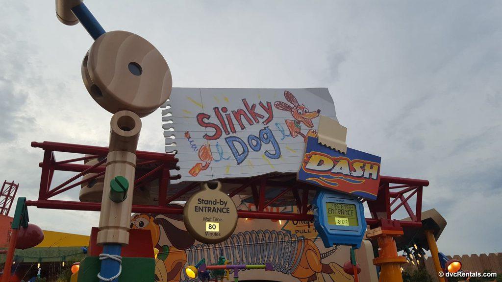 Entrance to Slinky Dog Dash Coaster