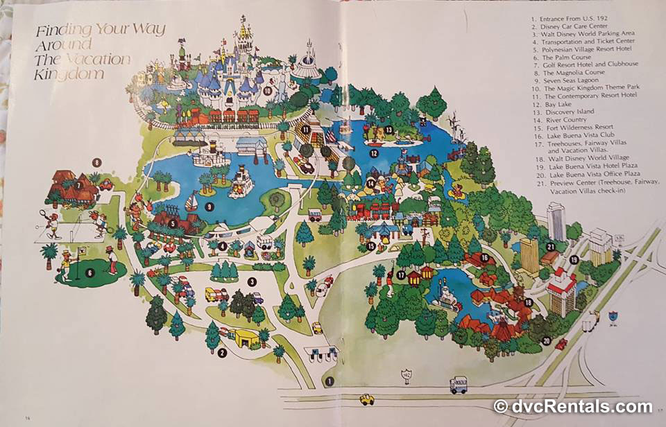 Map of WDW from 1978
