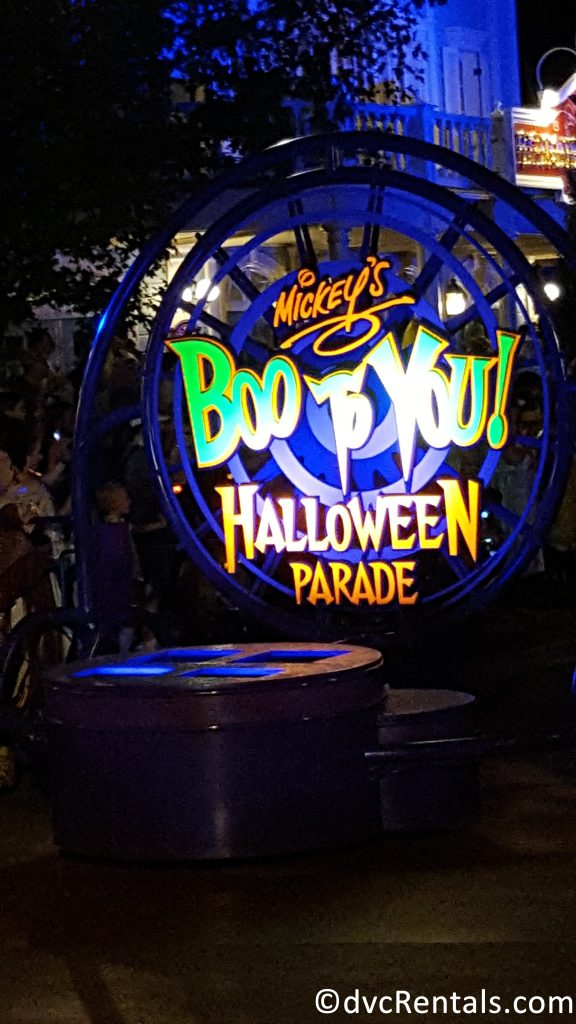 Boo to You Parade sign
